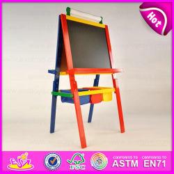 2015 nouveau jouet en bois pour les enfants, la peinture de chevalet populaire dessin chevalet en bois, Hot Sale dessin chevalet Stand avec boîte de rangement W12B049b