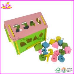 Nombre de blocs en bois mini House (W11H007)