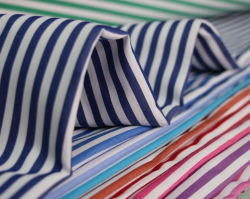 Polyester-Textilgarn-gefärbtes konstantes Hemd-Gewebe des Streifen-60 der Baumwolle40