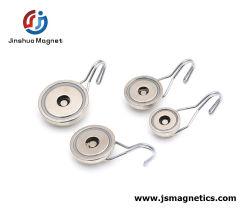 Grandes Ganchos magnéticos fortes ganchos magnéticos Industrial Preto Ganchos Magnéticos Pot magneto de neodímio com gancho