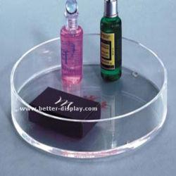 Grande y redondo de plástico acrílico transparente ducha profunda que sirve en bandeja (BTR-P1008)
