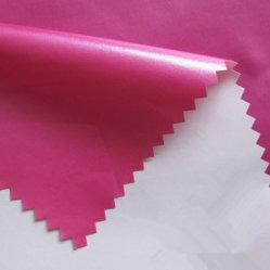 Revestido de PU nacarado, brillante, Down-Proof Water-Resistant, tejido de tafetán de nylon