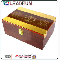 Coffret en bois de thé Boîte de souvenirs avec insert en mousse EVA Blister (YLT32)