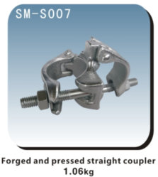 Acoplador de conector tubo componentes andamios