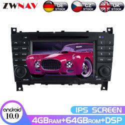 IPS Android 10.0 Lecteur de DVD Navi GPS pour Mercedes Benz W203/W209 W219 A-A160 classe Auto Radio Stéréo Unité de tête de lecteur multimédia