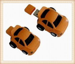 カスタムLogobブラウンのABS車の形USBのフラッシュ駆動機構(EP054)