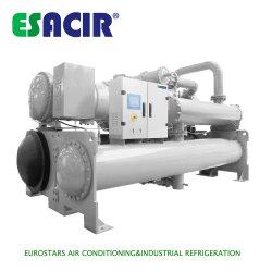 Ahorro de energía de calor de la enfriadora recupere el freón R407c Chiller enfriados por agua