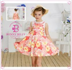 100% algodão Kids bonita rapariga Modelo Dress (1285#)