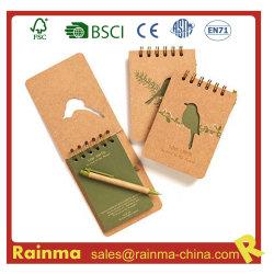 Mini-A6 A7 Cuaderno de espiral personalizado con logotipo impreso para Office y promociones.