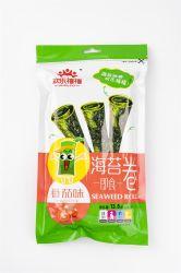 13,8g Tomatengeschmack Seetang Roll geröstete Seetang Grüne Seetang Snacks Gesundheit Algen Essen