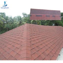 12 couleurs Style Double Fibre de verre de l'asphalte de bardeaux de toiture / les matériaux de construction pour la construction