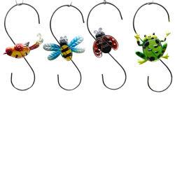 Os animais decorativas Bee, Frog & Bird parede de metal Jardim Piscina anzóis