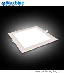 15W 200x200mm carré lumière LED pour panneau encastré résidentiel