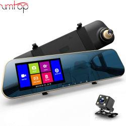 """車DVRのカメラ4.3の""""タッチ画面FHD 1080Pのバックミラーのデジタルビデオレコーダーの二重レンズの自動Registratorのカムコーダー"""