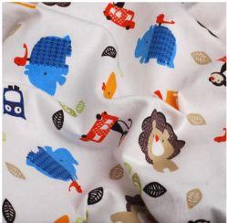 卸売100%の綿の新しい子供の子供は寝間着のパジャマのフランネルの赤ん坊ファブリックを印刷した