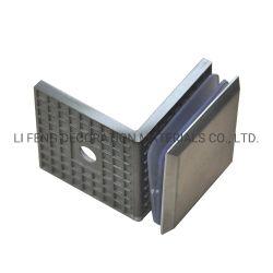 스테인리스 90° 정연한 단 하나 유리제 문 조정 클립 또는 샤워실 문 분할 코너 합동