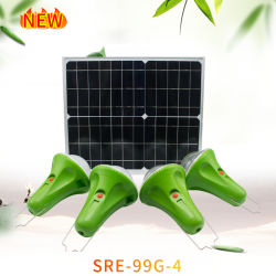 20W 25W Zonnepaneel 4 LED Bulbs Portable Solar Power Lighting System Kit voor Home met Mobile Phone Charging met Bracket