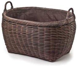 Servicio de lavandería cesta de mimbre ovalada canastas de vacaciones