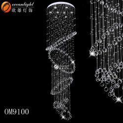 Illuminazione Pendant di cristallo della base K9 dell'acciaio inossidabile (OM9101)