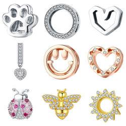 Sterling Silver Accessoires de Mode pour les Bracelets de Perles