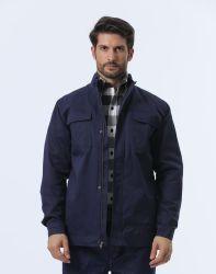 Огнеупорные Fr хлопка безопасности куртка с латунными молнией для промышленности
