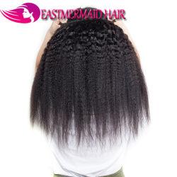 黒人女性のための人間の毛髪のYakiのねじれたまっすぐな毛
