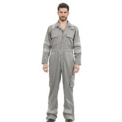 100%хлопок серый корпус из негорючего материала с Coverall светоотражающей лентой для мужчин