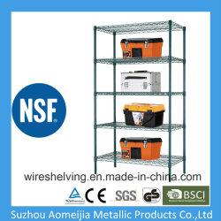 Nivel 5 estantes de alambre Reforzado epoxi para el uso de la sala fría