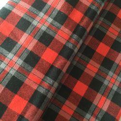 100% coton Tissus teints en fils teints de triage des deux côtés de plaids pour chemises de flanelle brossé
