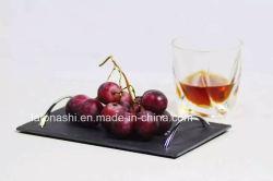 L'ardesia di pietra naturale di serie degli articoli per la tavola placca l'ardesia del cassetto alimento/della frutta