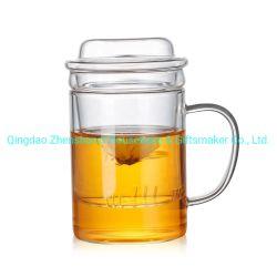 El vidrio al por mayor Taza de Café Taza de Té con Tea Infuser Filtro y tapa de tamiz