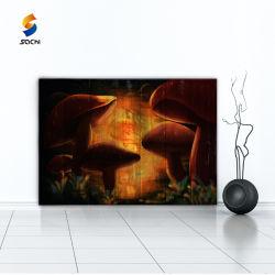 [هندمد] جدار فنية حديثة نوع خيش صورة زيتيّة مع يشكّل