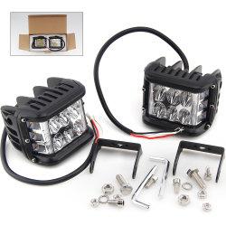 Offroad Super Bright Flash stroboscope 3000K 6500K 72W 3pouces LED Moto Système d'éclairage des feux de travail