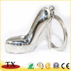 Lady's High-Heeled buscando una buena forma de zapatos de aleación de zinc Llavero de metal