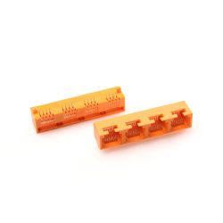 Multi-Kanäle 1X4 seitlicher Eintrag-Profil-Datei RJ45 Schaltkarte-Verbinder