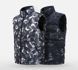 Mode unisexe conçu blanc chaud de vêtements de camouflage Polyfill graphène gilet Pearl pour l'usure et des sports d'hiver occasionnel d'usure et l'usure extérieure