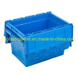 Logística PP moviendo la caja contenedor de almacenamiento de apilar las cajas de Tote de plástico
