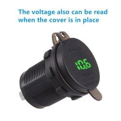 4.2A 전압계 12-24V를 가진 듀얼포트 USB 충전기