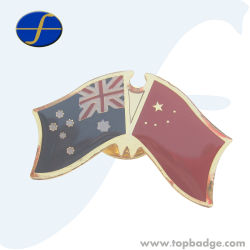 Торжественное дружбы Металл Страна Значок флага для FTFP1629Promtion (A)
