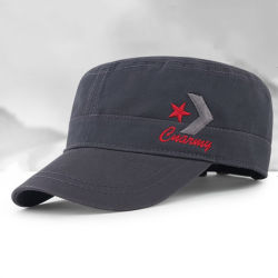 Ecusson brodé monté dessus plat tactique béret chapeau militaire de l'Armée de coton