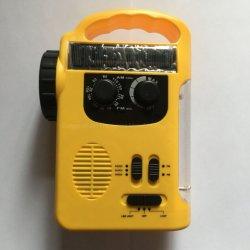 """زر """"زر"""" لراديو AM FM مع """"زر الطوارئ"""" ضوء LED ومشغّل MP3 لبطاقة SD"""