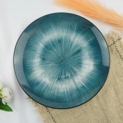 """10.5"""" Lune Plaque en porcelaine plein de fleurs"""