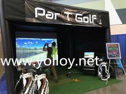 ケージのゴルフ湾のシミュレーターの投射のための膨脹可能なゴルフテントに当るゴルフ