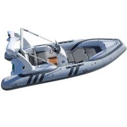 CE Rib 580 Fashion Design Coque en fibre de verre bateau gonflable nervure de la vitesse du bateau de pêche Bateau Bateau bateaux thoracique