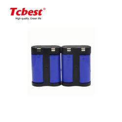 2CR5 6.0V batterie au lithium 3V 1500mAh Batterie 1500mAh Limno2 Non-Rechargeable 2cr5 / CRP2 cr1/3N 3 Volt Limno2 Batteries CR1-3n 2cr1/3n Cr2 CR-P2 CR123A 2CR5