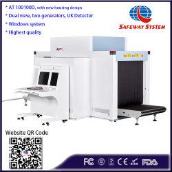 100100d vista dual de rayos X del aeropuerto de inspección Escáner Escáner de seguridad análisis de detección de la máquina con dos generadores, Inclinación de la función y la detección de explosivos