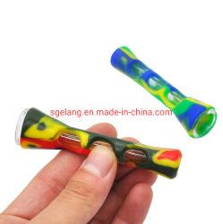 Silikonweed-rauchendes Glaswasser-Rohr-Rauch-Tabak-Rohr