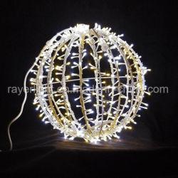 60cm LED Weihnachtsmotiv-Beleuchtung-Weihnachtskugeln mit Rostschutzrahmen
