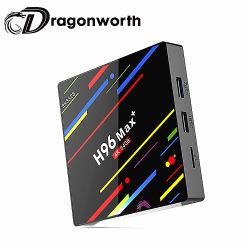 Quad Core H96 el reproductor multimedia WiFi Max RK3328 con Android Media Player 4K TV Box