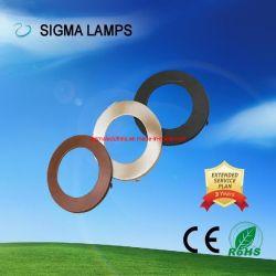 Sigma rond Carré résidentiel monté en surface évidée Slim Black Silver Golden de couleur RVB 3W 5W 7W 9W 12W 15W 18W 24W 30W Plafond Spot Lampes de feux de panneau à LED